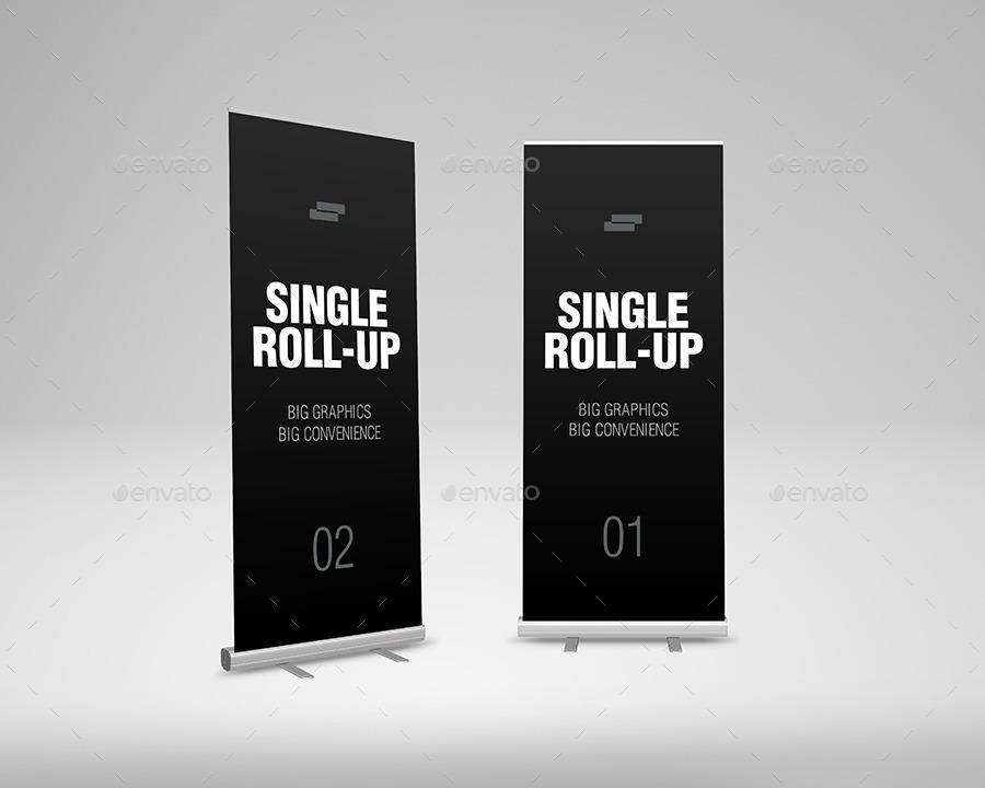 Roll Up Banner Mock Up By Sreda GraphicRiver