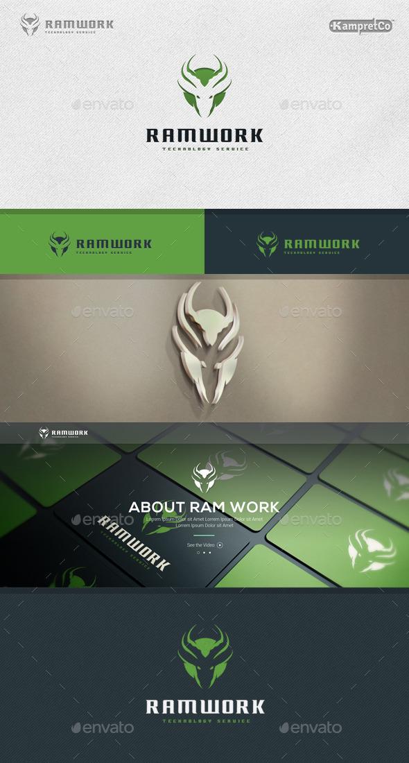 Ram Work Logo - Animals Logo Templates