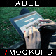 Photorealistic Tablet With Female Hands Mock-Up V1