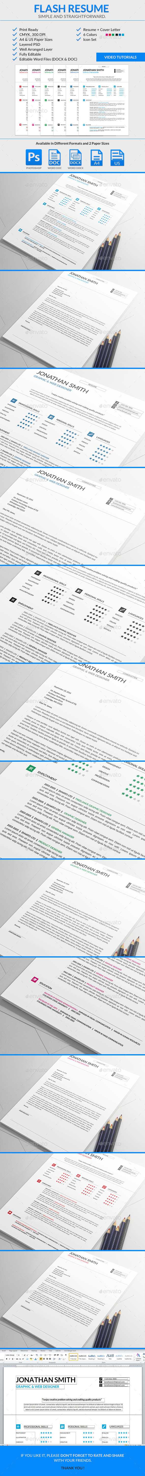 Flash Resume Template - Resumes Stationery