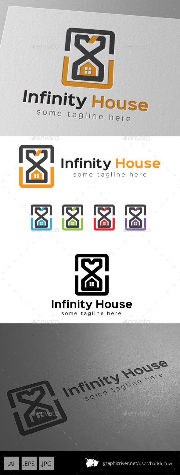 Infinity Time House Property Logo - Buildings Logo Templates