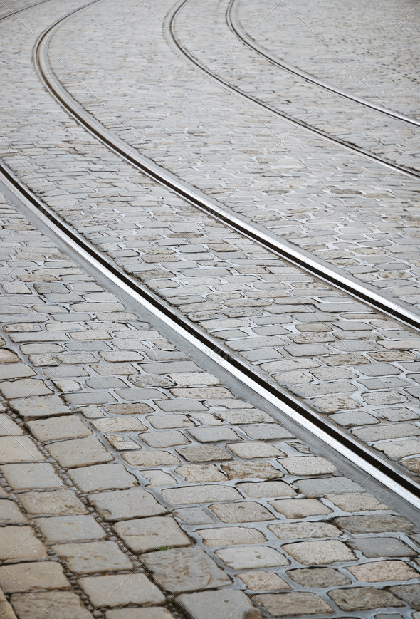 Tram tracks - Stock Photo - Images