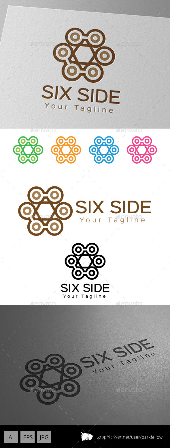 Six Side  Vintage Ornament Logo - Crests Logo Templates