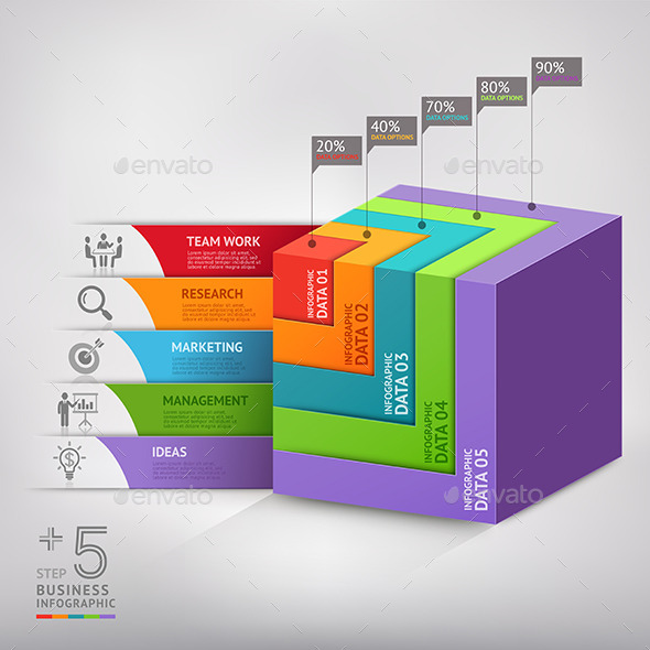 Business Box Infographic Template. - Infographics