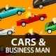 Businessmen and Women Driving Cars - GraphicRiver Item for Sale
