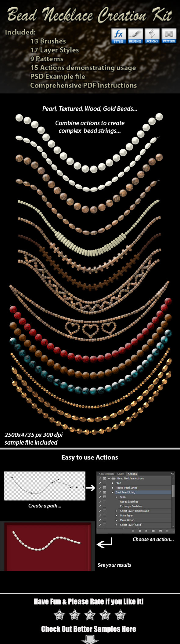 Bead Necklace Creation Kit - Utilities Actions