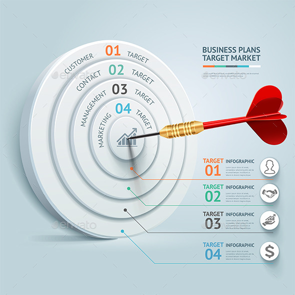 Business Target Marketing Dart Idea - Infographics
