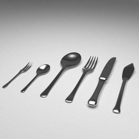 Flatware - 3DOcean Item for Sale
