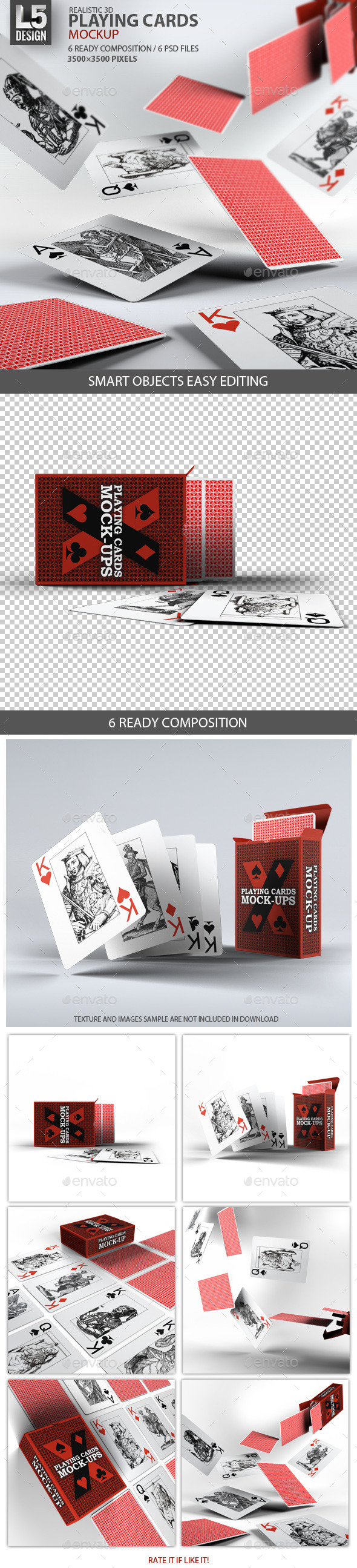 Playing Cards / Card Box Mock-Up - Packaging Product Mock-Ups