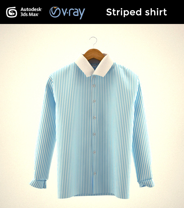 Striped shirt - 3DOcean Item for Sale