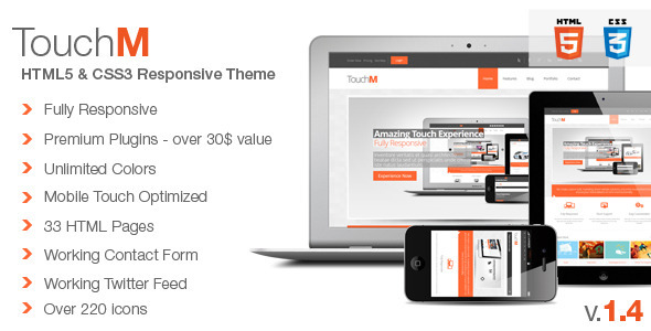 TouchM Premium HTML5 Multipurpose Responsive - Corporate Site Templates
