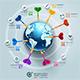 Business World Target Marketing Dart Infographic.