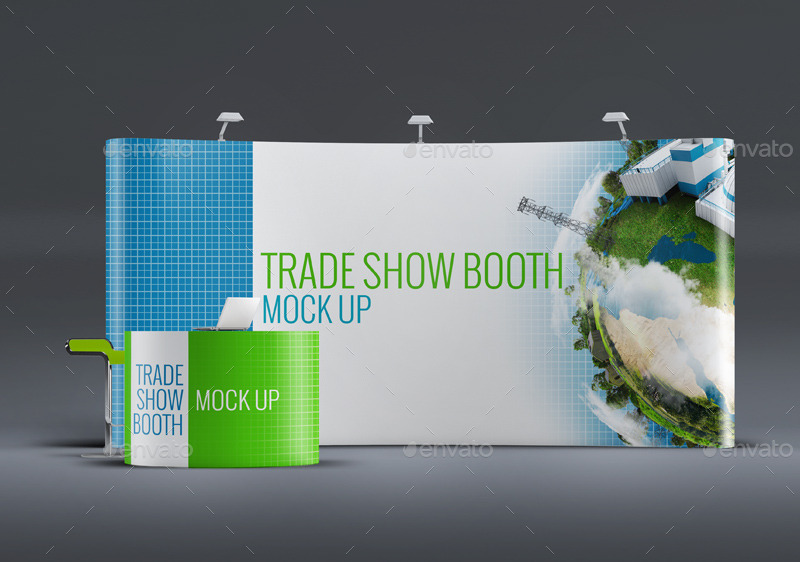 Exhibition Booth Mockup Free Download : Trade show booth mock up by l design graphicriver