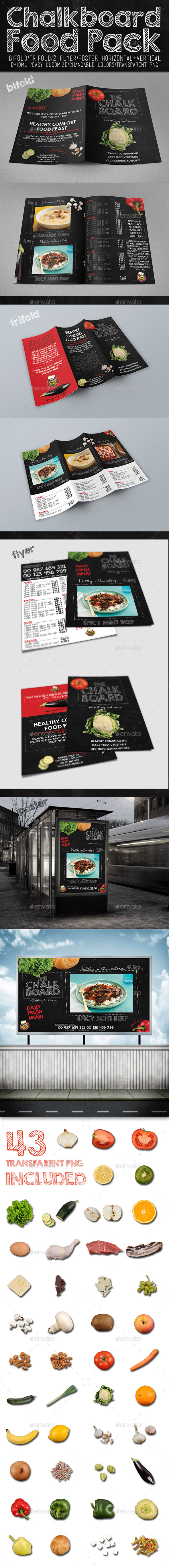 Chalkboard Food Package - Print Templates