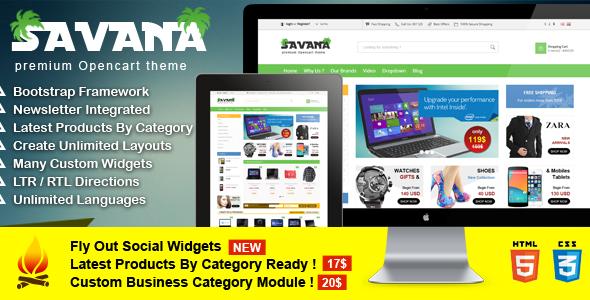 Savana – Premium Opencart Theme