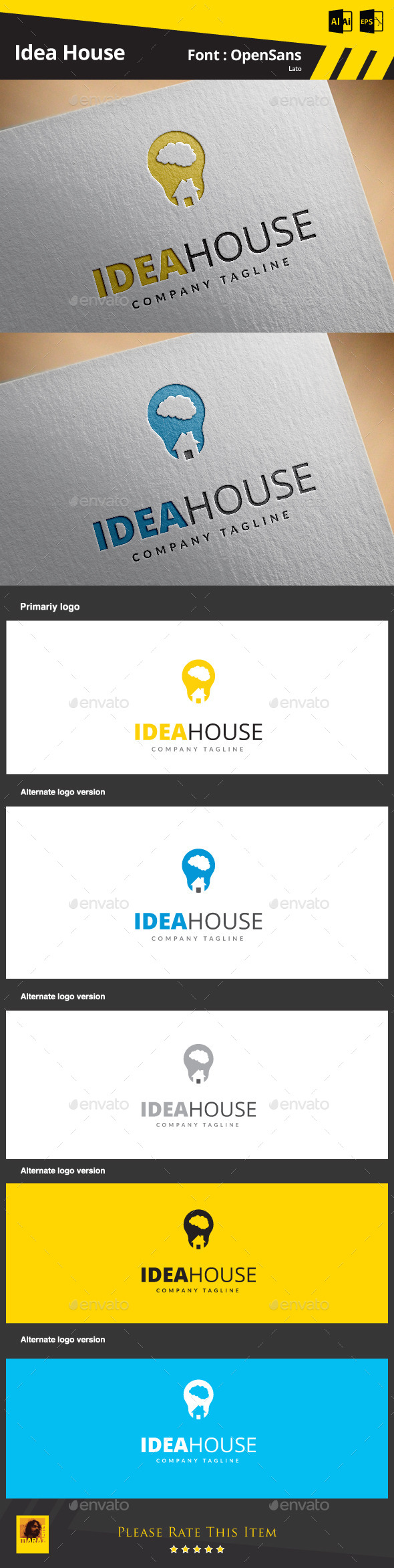 Idea House - Symbols Logo Templates