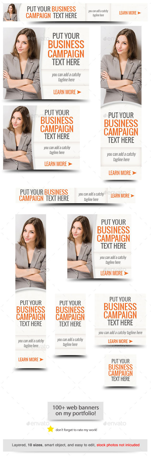 Corporate Web Banner Design Template 53 - Banners & Ads Web Elements