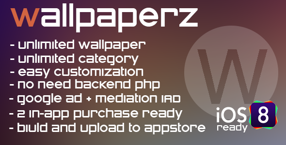 WallpaperZ - multicategory app + in-app - CodeCanyon Item for Sale