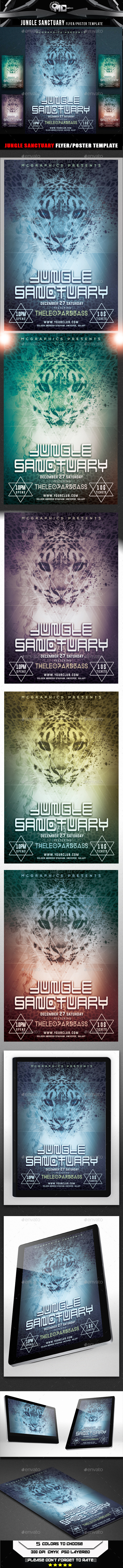 Jungle Sanctuary Flyer Template - Flyers Print Templates