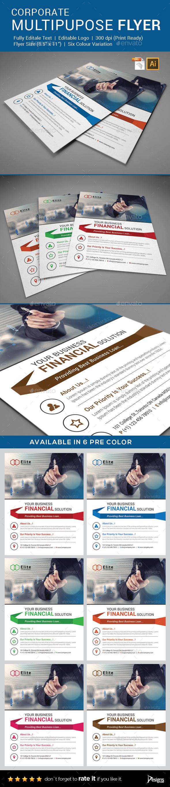 Flyer - Multipurpose Business Flyer 3 - Flyers Print Templates