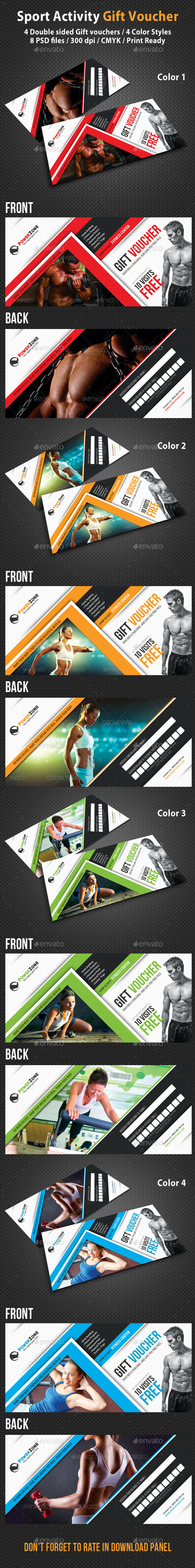 Sport Activity Gift Voucher 02 - Cards & Invites Print Templates