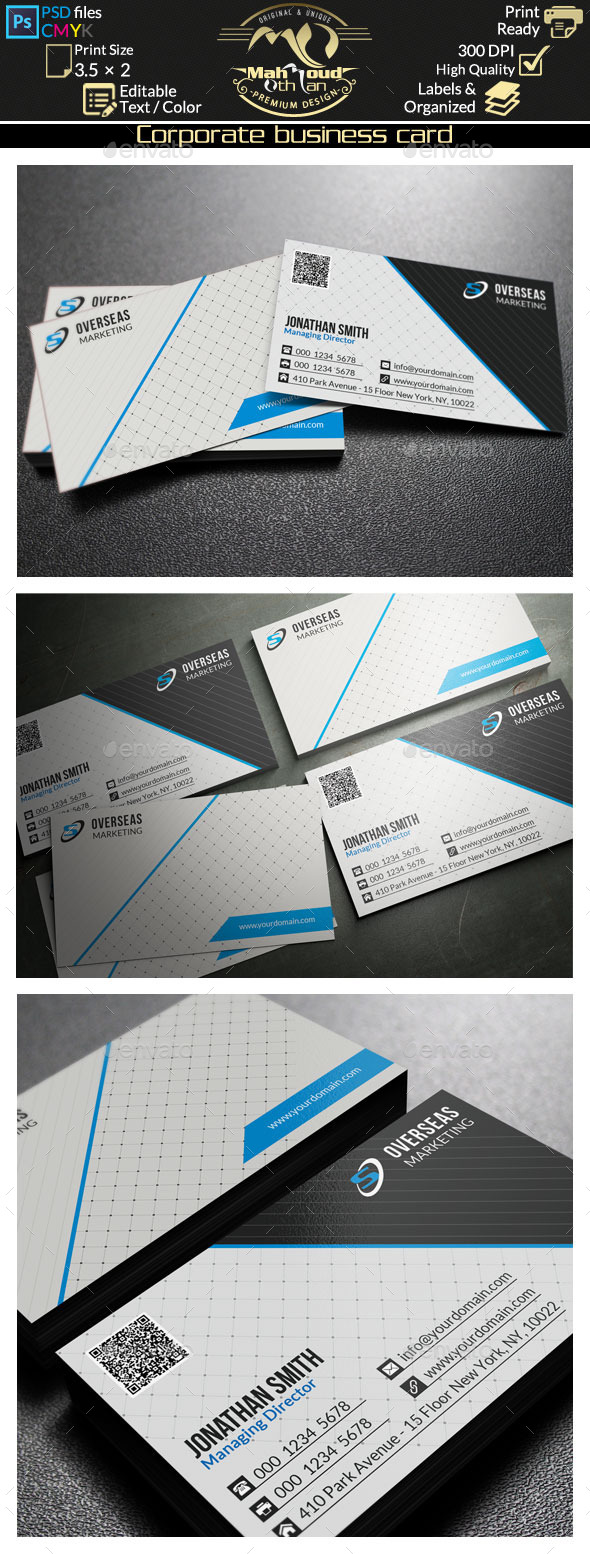 Modern Corporate Business Card 57 - Corporate Business Cards