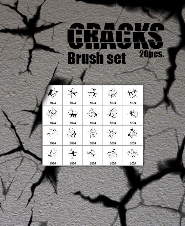 Cracks - 20pcs. Brush Set - Abstract Brushes