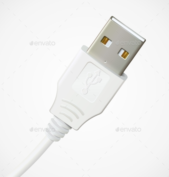 Photorealistic USB Cable - Computers Technology