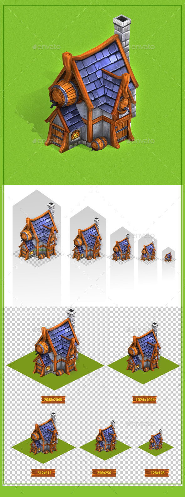 Tavern Tilesets - Architecture 3D Renders