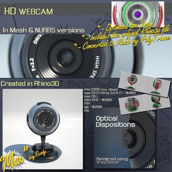 HD WEBCAM - 3DOcean Item for Sale