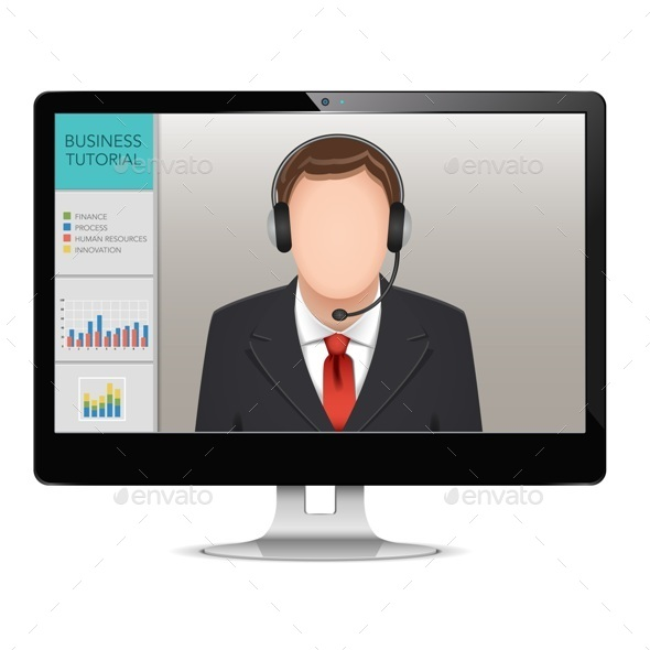 Computer Webinar Concept - Concepts Business