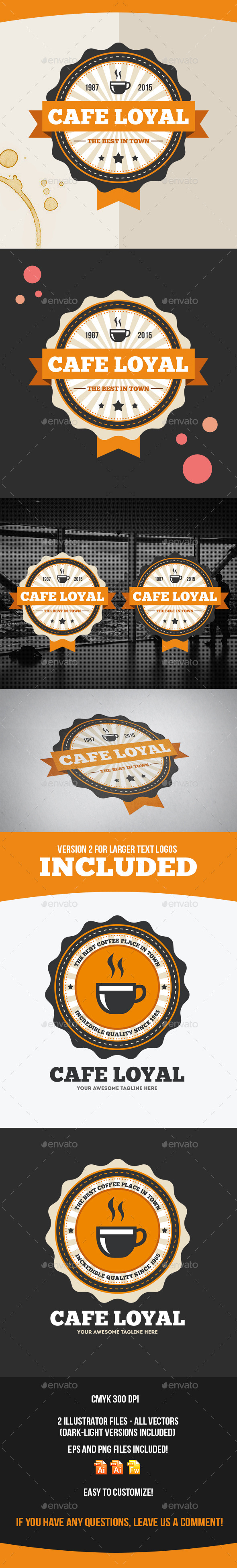 Cafe Loyal Logo Template - Food Logo Templates