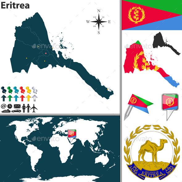 Map of Eritrea - Travel Conceptual