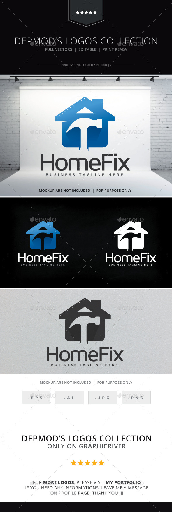 Home Fix Logo - Buildings Logo Templates