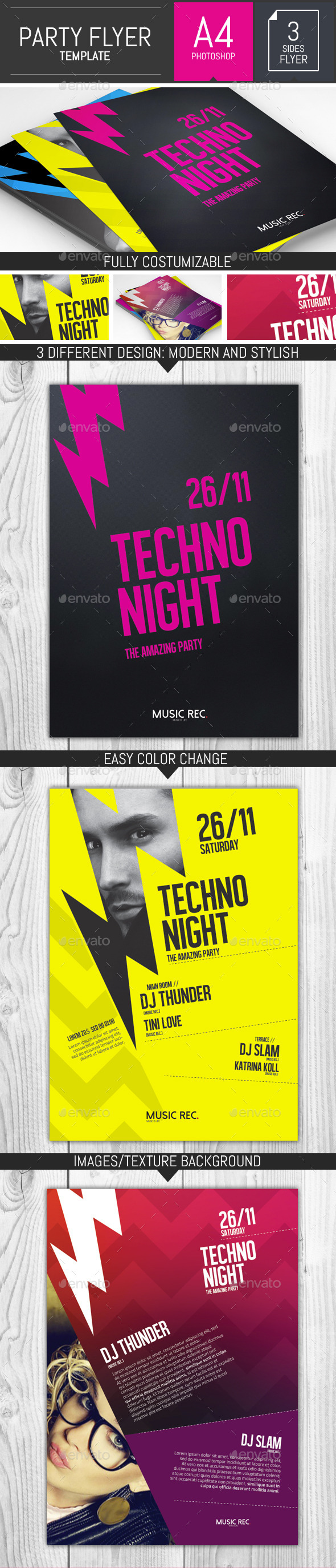 Let's Rock! Party Flyer Template - Events Flyers
