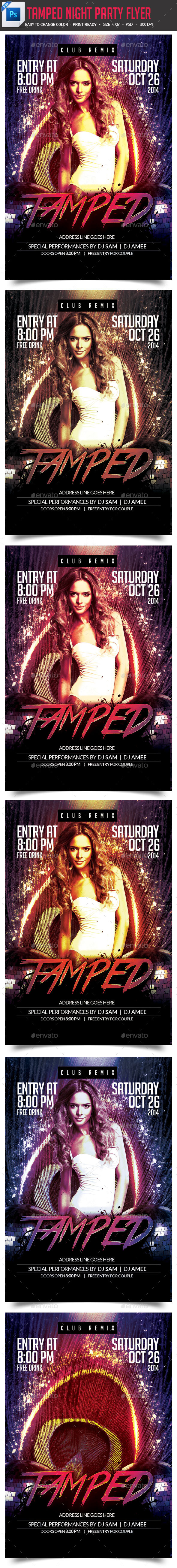 Tamped  Night Party Flyer - Clubs & Parties Events
