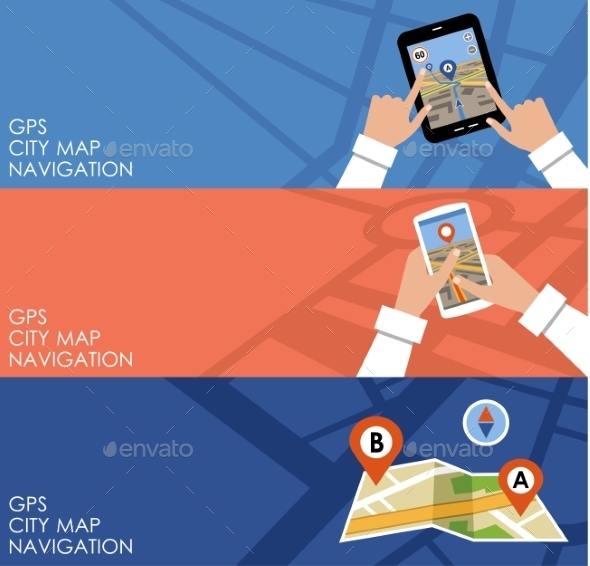 Three Banners with GPS - Web Technology