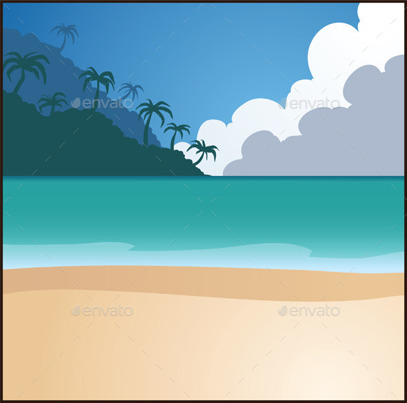 Beach Background - Backgrounds Decorative
