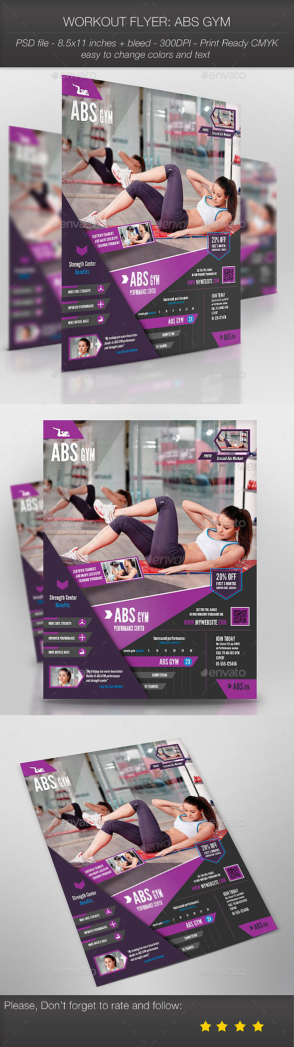 Workout Flyer: Abs Gym - Sports Events
