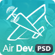 Air Dev. - One Page PSD Template