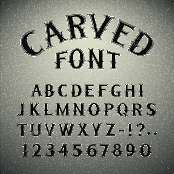 Font Carved in Stone - Decorative Symbols Decorative