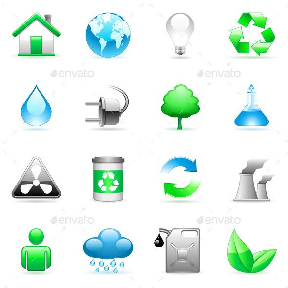 Environmental Icons - Nature Conceptual