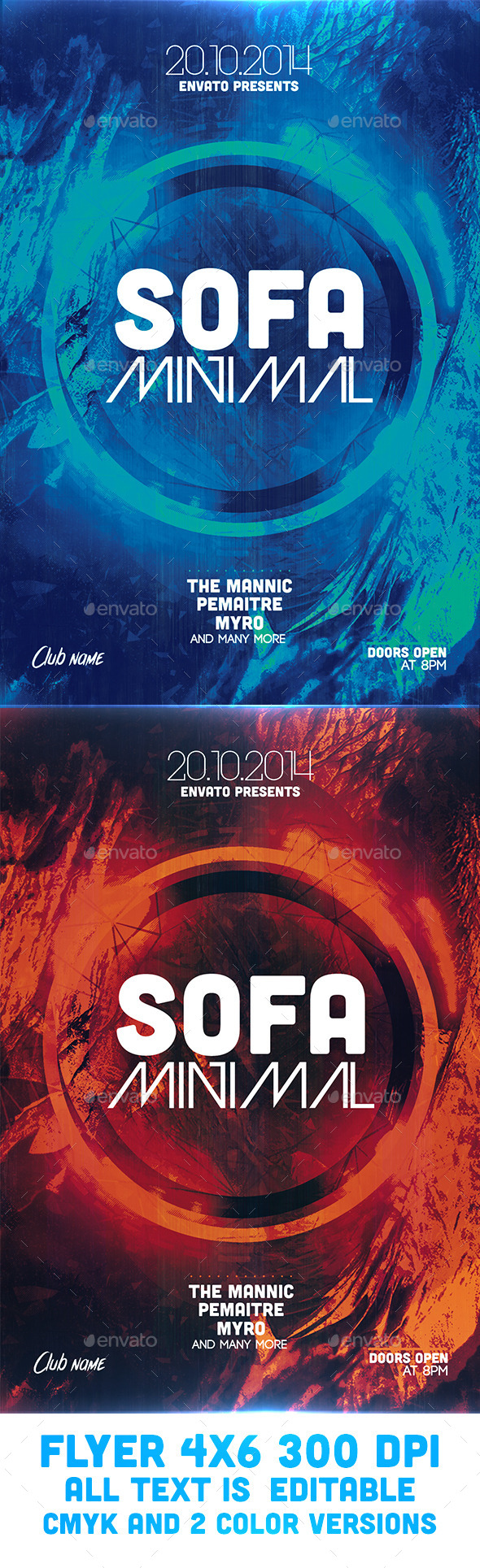 Sofa Minimal Flyer Template - Clubs & Parties Events