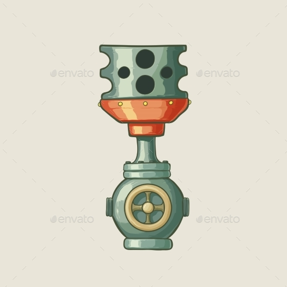 Illustration of a Steampunk Styled Pipe - Retro Technology