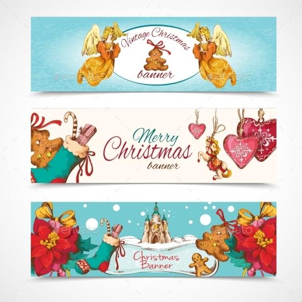 Christmas Banners Set - Christmas Seasons/Holidays