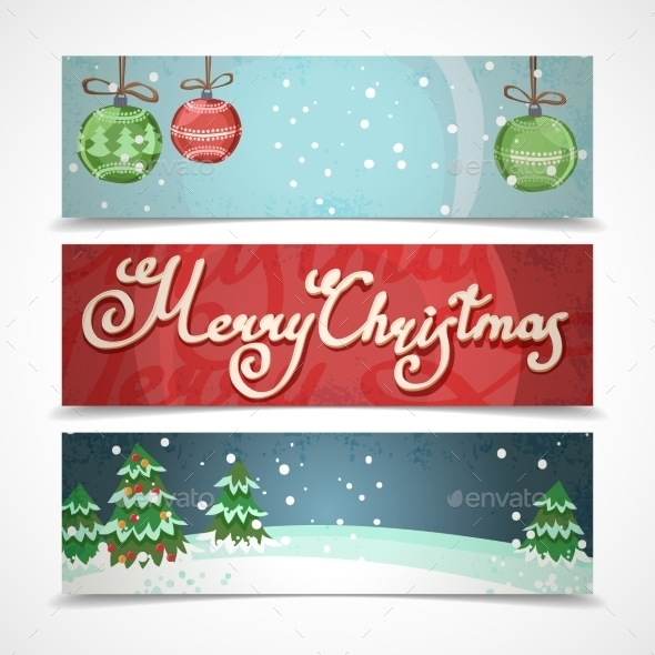 Horizontal Christmas Banners  - Christmas Seasons/Holidays
