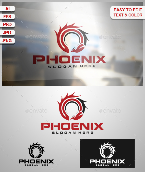 Phoenix - Animals Logo Templates