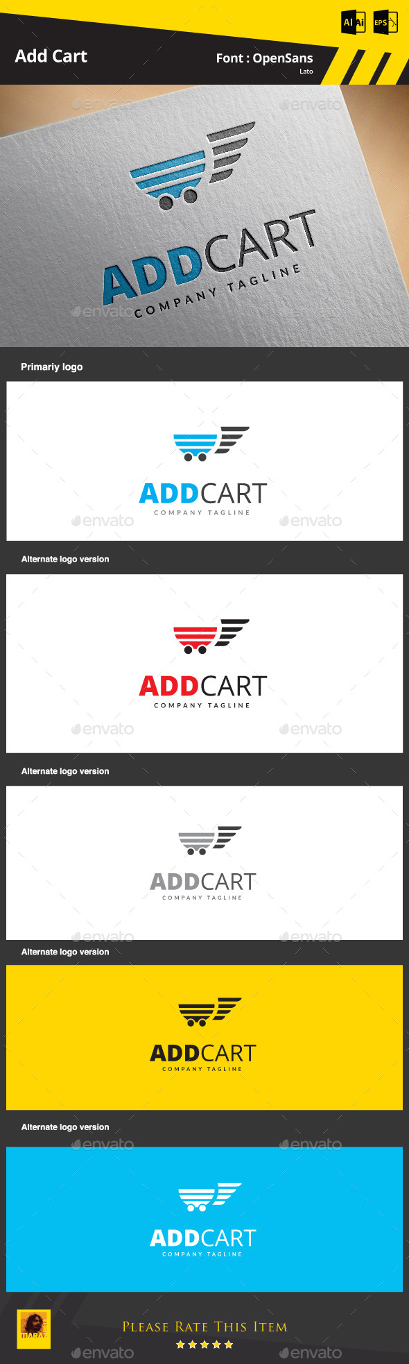 Add Cart - Symbols Logo Templates