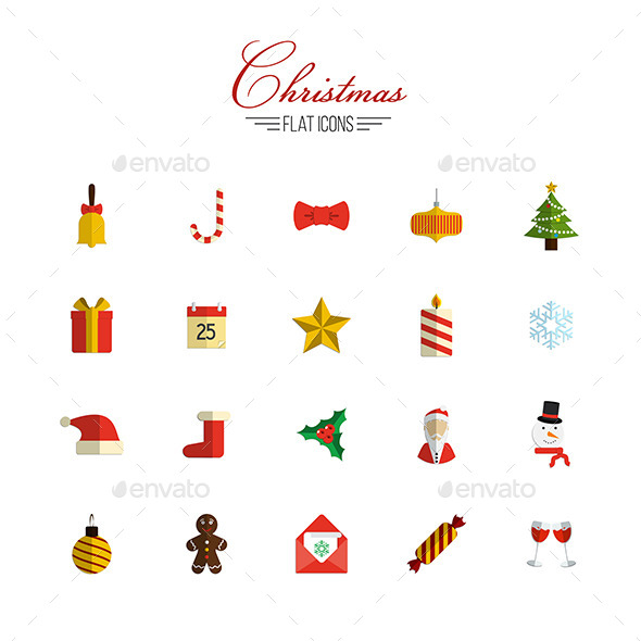 Christmas Icons Set - Characters Icons