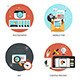 Set of Flat and Colorful Concepts Icons